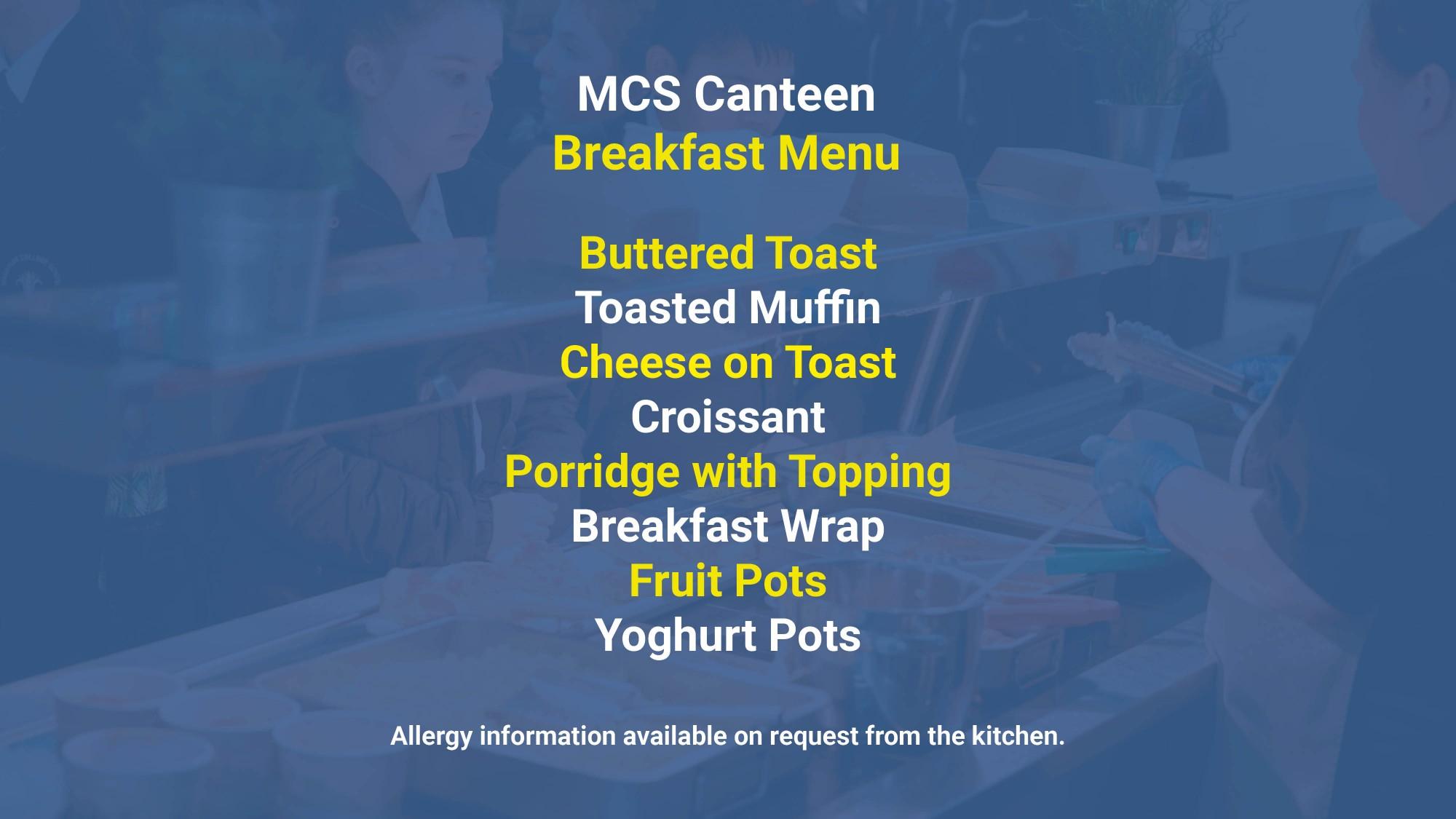 Breakfast Menu October 20212