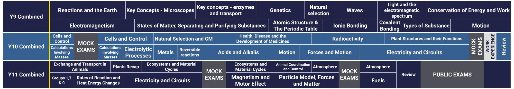 Science Curriculum 2021 2022 GCSE Combined